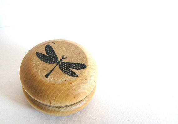 Natural Wood YO-YO *Easter Gift *Easter Toy *Wooden Toy *Waldorf Wood Toy* Classic Game* Stocking Stuffer *Easter Basket* Dragonfly * kids