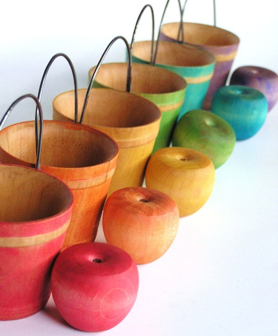 Wood Toy- Apple Pickin- Etsy Front Page Pick