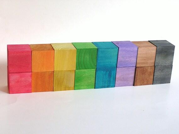 STACK n BUILD Rainbow Blocks- Waldorf Wood Toy
