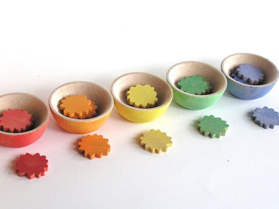 Waldorf- Montessori- Educational- Wood Toy- SUN STACKER-