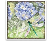 20% OFF Sale - Pretty Blue Dragonfly Coaster