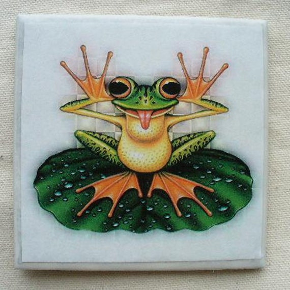 Funky Frog Coffee Coaster