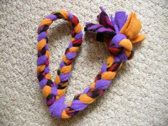 Orange & Purple Dog Tug Toy