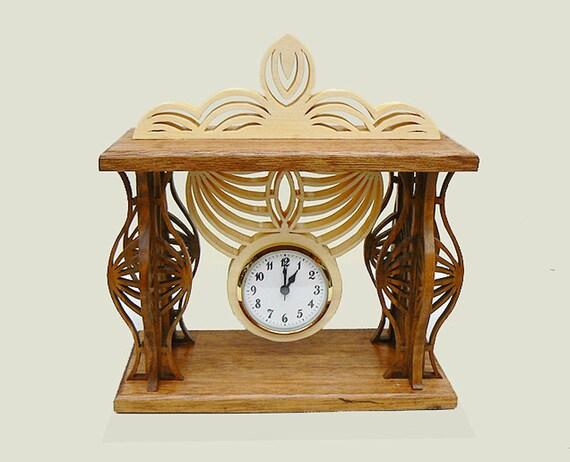 Art Deco Design Fretwork Mantle Clock