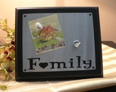 DIY - FAMILY MAGNET BOARD attach to wood with peg and magnets