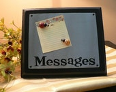 DIY - MESSAGE MAGNET BOARD attach to wood with peg and magnets