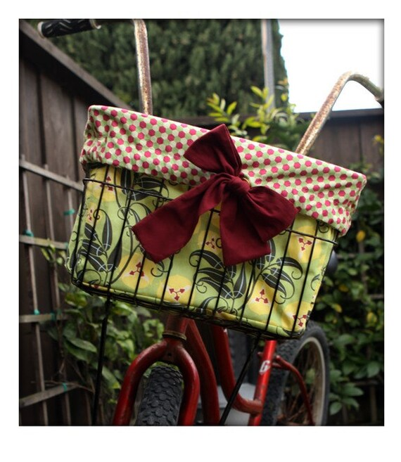 Bicycle Basket Liner and Mini Tote - Kaela Kruise PVL1005