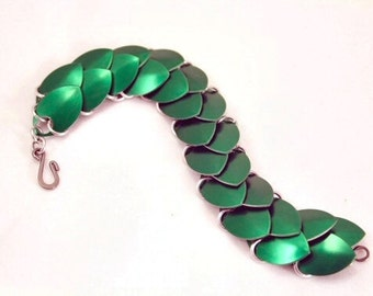 You Choose the Colours - Custom Colour Scalemaille Bracelet - Dragon - 2 row