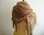 Knit Scarf PATTERN, Extra Large Lace Knit Scarf Shawl Pattern, 26