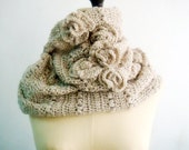 CROCHET Pattern Cowl Infinity Loop Circle Scarf PDF Beige Neutral Rustic with Roses PDF Instant Download 8 - PATTERNSbyFAIMA