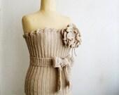 PDF PATTERN Crochet Bustier Top Corset Flower Brooch 2