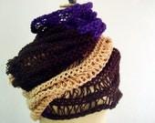 PDF PATTERN Knit Scarf, Color Block Long Lace Scarf, Huge Scarf Wrap, 5