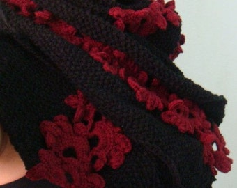 CROCHET and Knitting PATTERN Gypsy Scarf, 42
