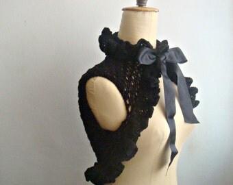 PDF PATTERN Knit Victorian Shrug Bolero, DIY tutorial, 21