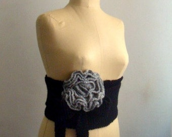 PATTERN Knit Obi Belt, Knitting Pattern Wrap, Knitted Flower Pattern, 17