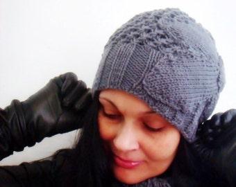 Romantic Slouchy Hat Knitting Pattern, Knit Beanie Pattern, Knit Hat Pattern, 15