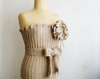 PATTERN Crochet Bustier, Crochet Top Pattern, Corset Pattern, Crochet Flower Brooch Pattern included, 2