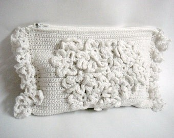 Crochet Clutch Pattern, Wedding Bridal Purse, Bridal Accessory, DIY Tutorial Crochet Clutch Bag