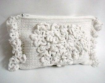 Crochet Clutch Pattern Wedding Bridal Purse DIY Tutorial Crochet Clutch Bag