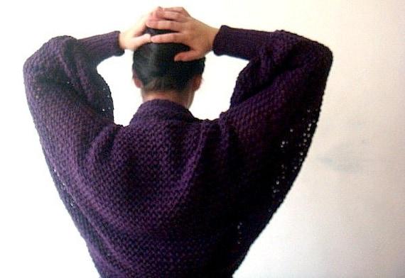 Long Sleeved Shrug Knitting Pattern : Knitting Pattern Long Sleeved Shrug, Lace Bolero, Flower Brooch, 40 from PATT...