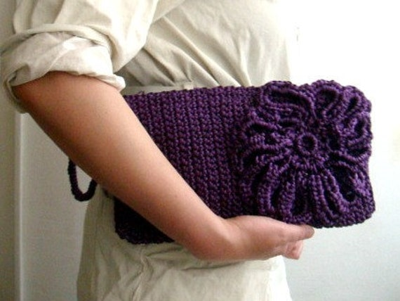 Crochet Clutch Bag Pattern : Crochet PDF PATTERN Clutch Bag Purse Wristlet 38