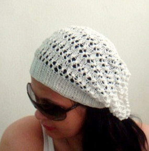 Knit Hat PATTERN Slouchy Beanie PDF Tutorial, 1