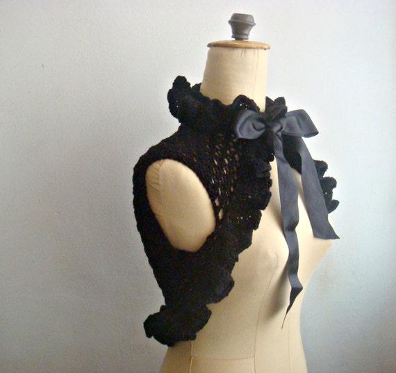 Knit Victorian Shrug Pattern, Knit Bolero Pattern, 21
