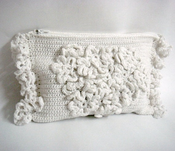 Crochet Clutch Pattern Wedding Bridal Purse by PATTERNSbyFAIMA