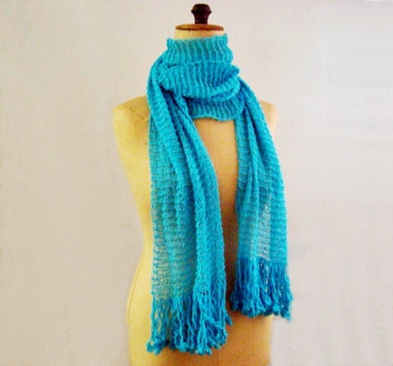 Knit Scarf Pattern Summer Cotton Scarf Kntting Pattern