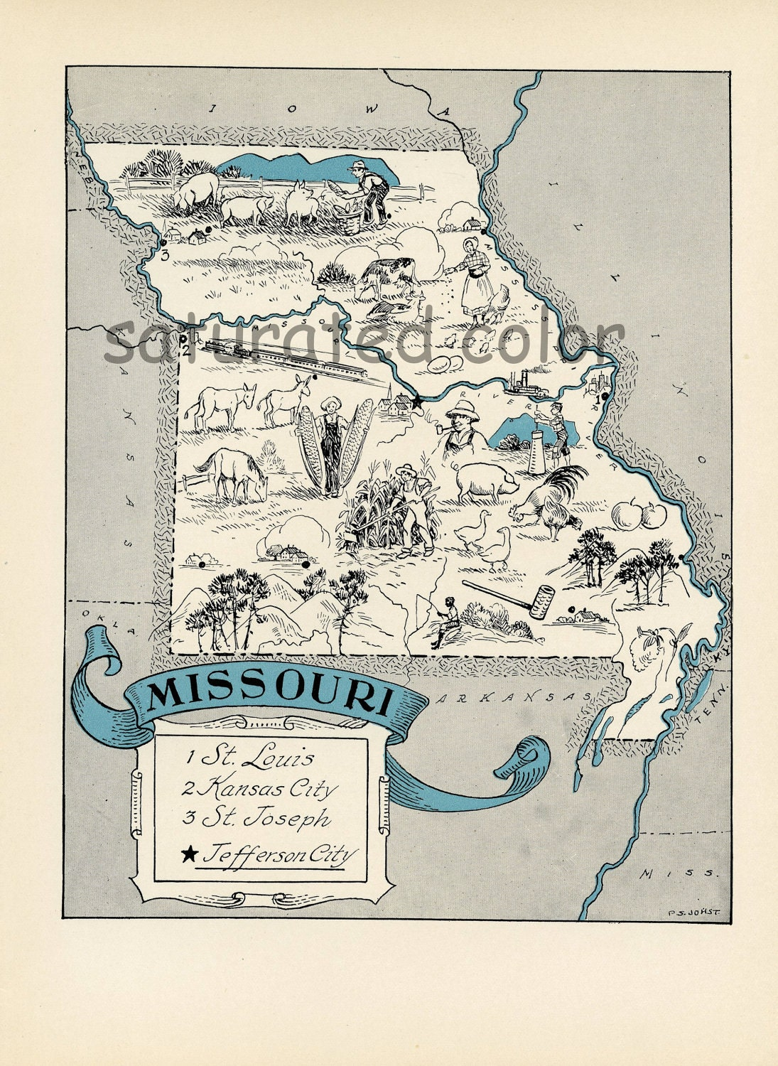 St Louis Maps Missouri US Maps Of St Louis Reference Map Of - Missouri on the map of usa