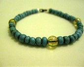 Rhys Bracelet - Turquoise accented with iridescent Beads