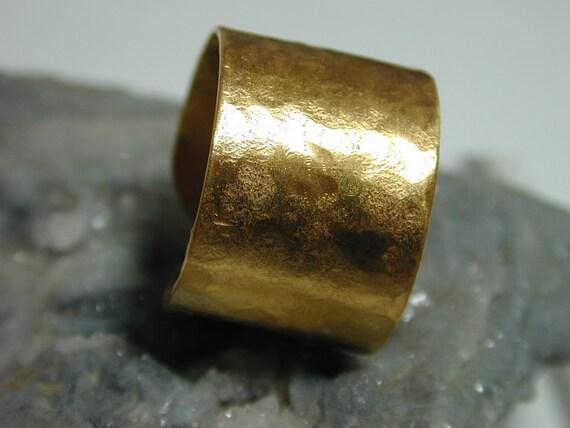 Gold texture band ring  ,Hammer gold band ring ,Cigar band ring