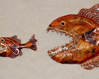 Evolution - Fish biting Fish biting Fish