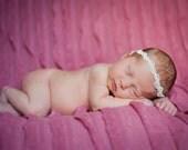 Ivory Pearl  Halo Headband Newborn Photography Prop