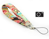 Bright Paisley - Camera Wristlet