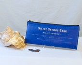 Blue Michigan Savings Bank Bag
