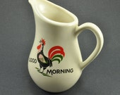 Rooster Pitcher Breakfast Tableware, Good Morning by Pearl China