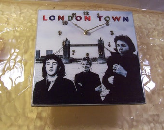 Wings London Town Album Cover Clock