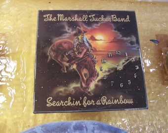 Marshall Tucker Searchin' For A Rainbow Album Cover Clock