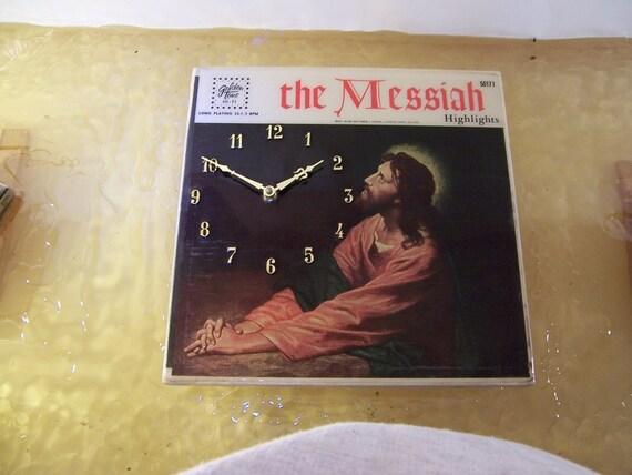 The Messiah Album Cover Clock