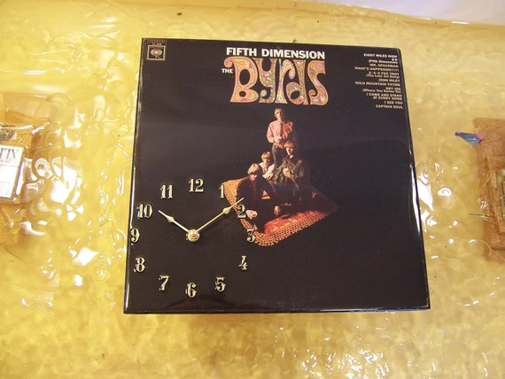 The Byrds Fifth Dimension Album Cover Clock