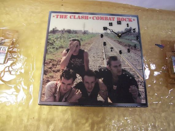 The Clash Combat Rock Album Cover Clock