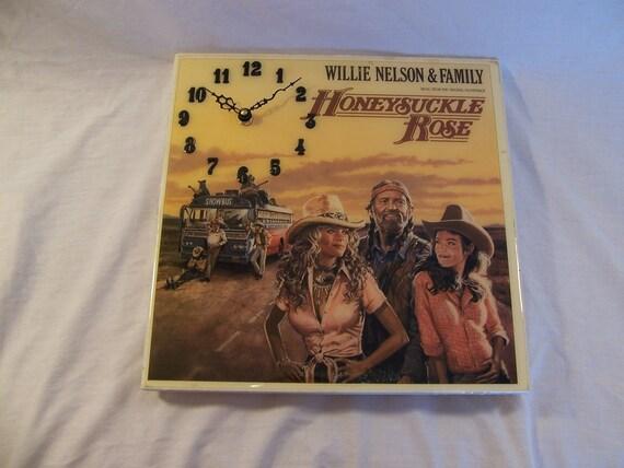 Willie Nelson Honeysuckle Rose Album Cover Clock