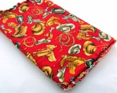 Red Cowboy Burp Cloth