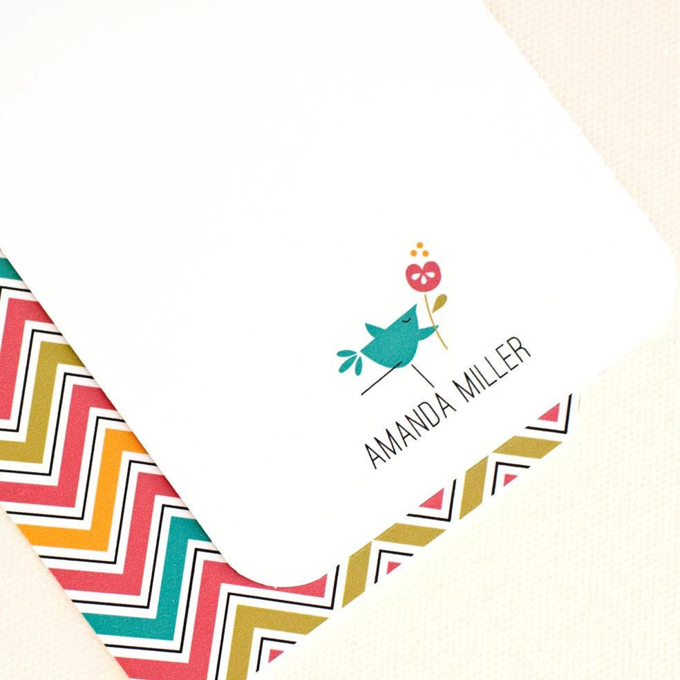 Personalized Papers Executive Stationery: Personalized Stationery Petite Note Cards // Set Of By