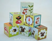Wood Block Toy or Decor - Woodland Creatures -Set of 6