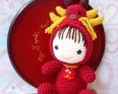 Amigurumi Pattern - Zodiac Dragon Baby - Crochet amigurumi tutorial doll PDF