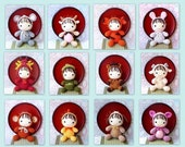 12 Amigurumi zodiac crochet animal toy dolls pattern PDF by ZodiacGurumi - Baby version