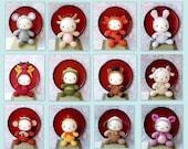 12 Amigurumi Crochet Zodiac animal toy dolls kitty patterns by ZodiacGurumi
