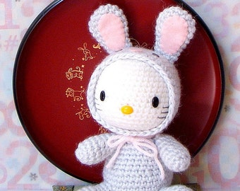 Amigurumi Pattern - Zodiac Rabbit Kitty - Crochet  amigurumi zodiac toy doll tutorial PDF